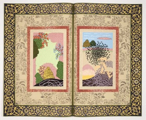 An image of The illustrated page (edition #2) by Shahzia Sikander, The Fabric Workshop and Museum