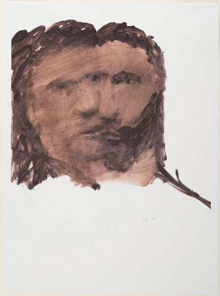 An image of Shakespeare Sonnet lithograph no. 1 by Sidney Nolan