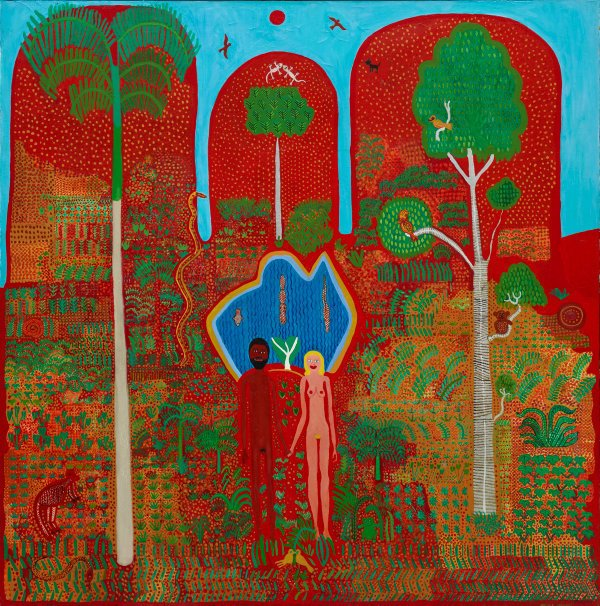 AGNSW collection Trevor Nickolls The Garden of Eden (1982) 230.1992