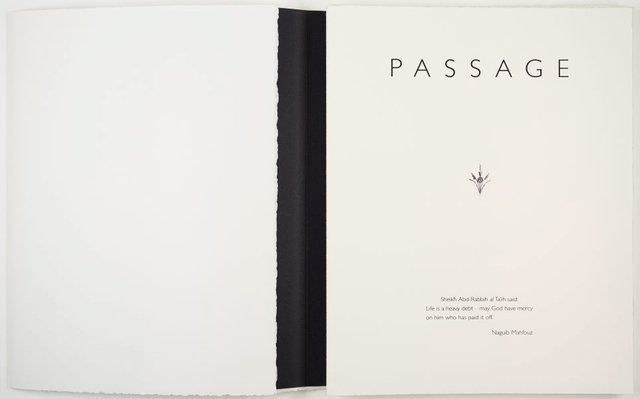 An image of Passage: a book of drawings by Andrew Christofides with musings from 'Echoes of an autobiography' by Naguib Mahfouz