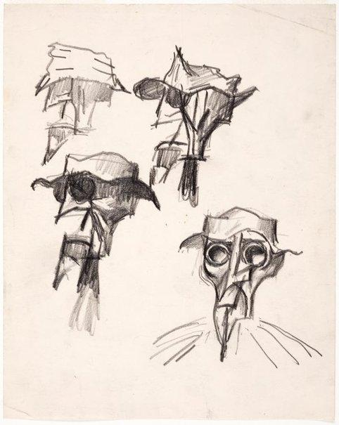 An image of Studies 'Explorer' heads by Albert Tucker
