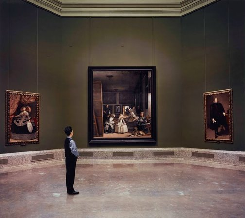 An image of Las meninas reborn in the night II: finding a tiny waver within silence by Morimura Yasumasa