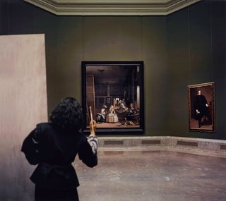 AGNSW collection Morimura Yasumasa Las meninas reborn in the night III: opening the door in the depth of the painting (2013, printed 2016) 231.2016.3