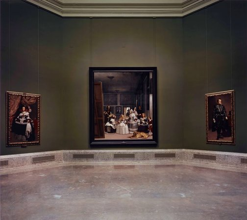 An image of Las meninas reborn in the night VII: in fact, nothing really happened by Morimura Yasumasa