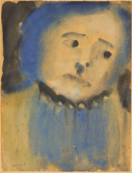 An image of Blue face by Danila Vassilieff