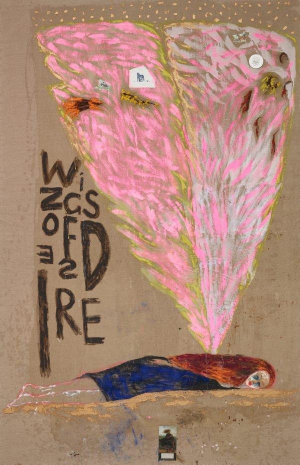 Wings of desire 1, (1989) by Jenny Watson