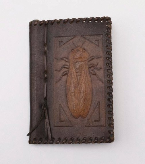 An image of Note book cover with cicada design by Lucia Young