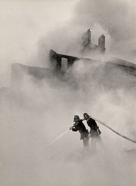An image of London, fire at Poplar by David Moore
