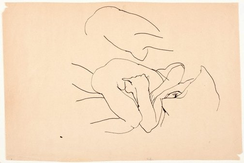 An image of (Nude study) by Brett Whiteley