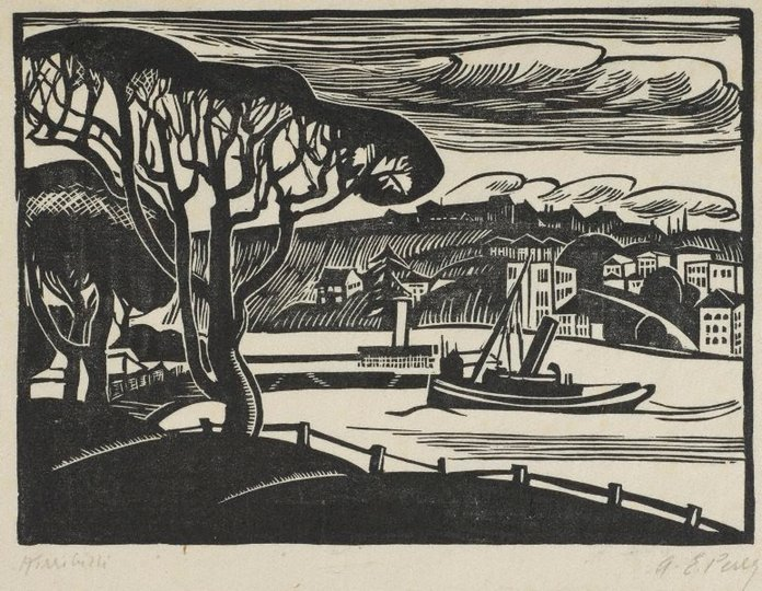 AGNSW collection Adelaide Perry Kirribilli (The little steamer) circa 1929