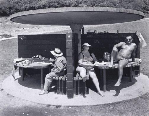An image of People beside pool at Clovelly Bay, New South Wales by Peter Elliston