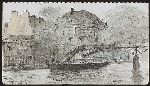 An image of Pont des Arts, Paris by Lloyd Rees