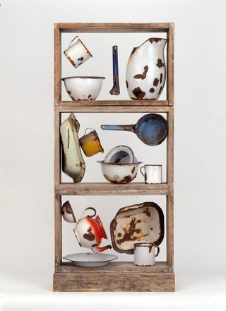 AGNSW collection Rosalie Gascoigne Enamel ware 1976