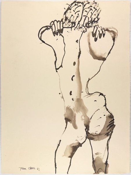An image of Female nude from behind by John Olsen