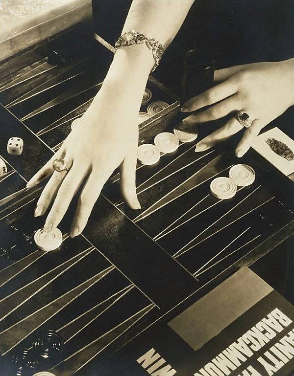 An image of The Play of Modern Hands (hands of Ilka Chase, Backgammon)