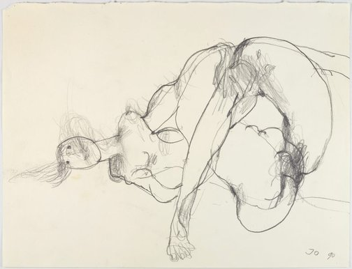 An image of Reclining female nude by John Olsen