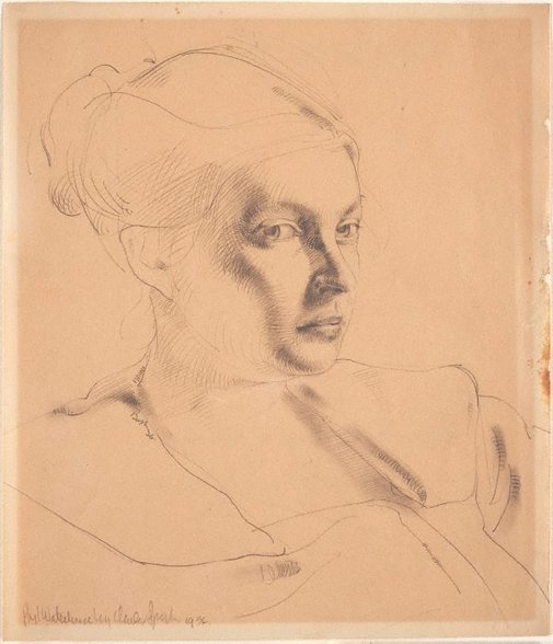 An image of Phyl Waterhouse, portrait study (three-quarters) by Charles Bush