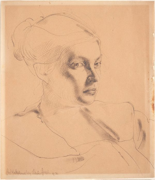 An image of Phyl Waterhouse, portrait study (three-quarters)