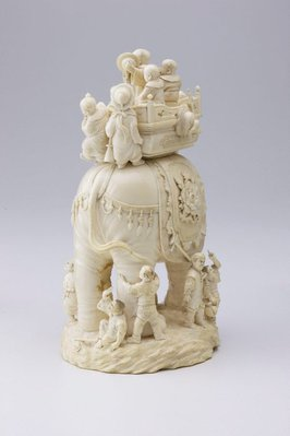 Alternate image of Elephant carrying howdah by
