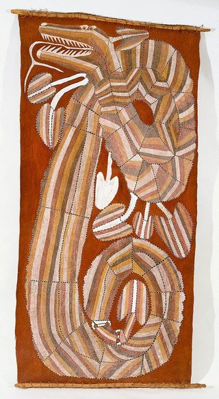 AGNSW collection Jimmy Njiminjuma Ngalyod - the rainbow serpent (circa 1985) 238.1989