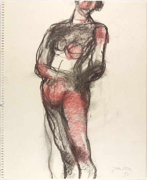 An image of Standing female nude by John Olsen