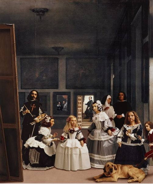 An image of In praise of Velázquez: distinguished ones in confinement by Morimura Yasumasa