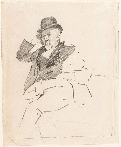 An image of Study of a man seated, Mr W Beattie by George W Lambert