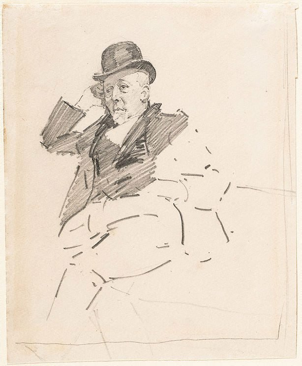 An image of Study of a man seated, Mr W Beattie