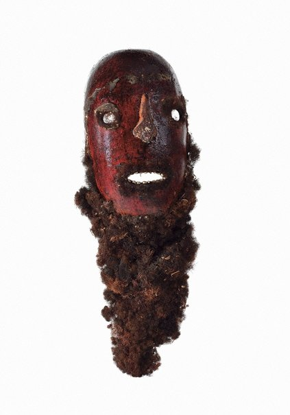 An image of Solkeo pe engelop (gourd mask) by Mendi people