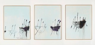 AGNSW collection Cy Twombly Three studies from the Temeraire 1998-1999