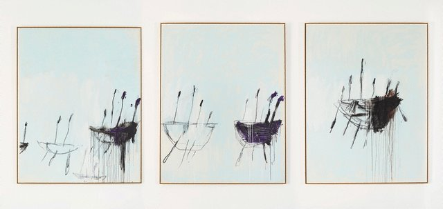 Three studies from the Temeraire, (1998-1999) by Cy Twombly