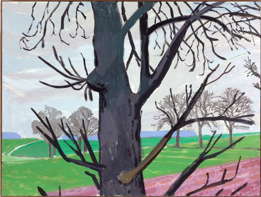 Alternate image of A closer winter tunnel, February-March by David Hockney