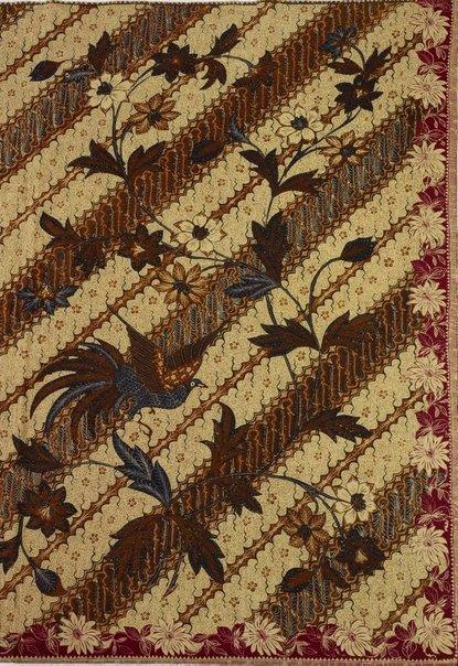 An image of Batik skirt cloth ( kain panjang) by