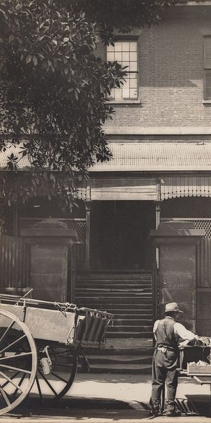 An image of Old High School, Castlereagh St by Harold Cazneaux