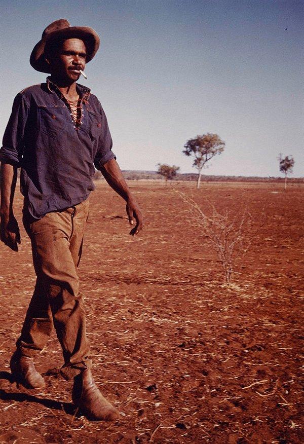 Aboriginal stockman, Central Australia, (circa 1947, printed 1982) by Axel Poignant