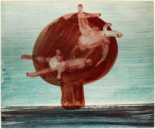 An image of Untitled (Moonboy and atom blast) by Sidney Nolan