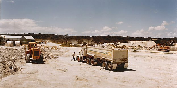 An image of Picking up the gypsum to be crushed and then carried to Ballast Head to await the ship