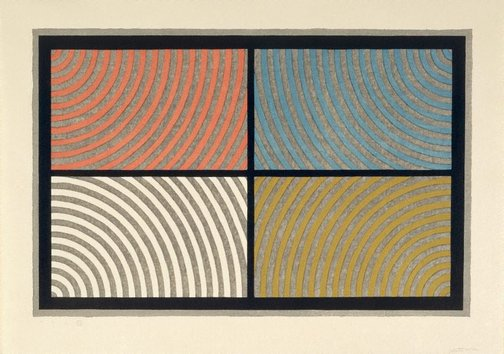 An image of Arcs from four corners by Sol LeWitt