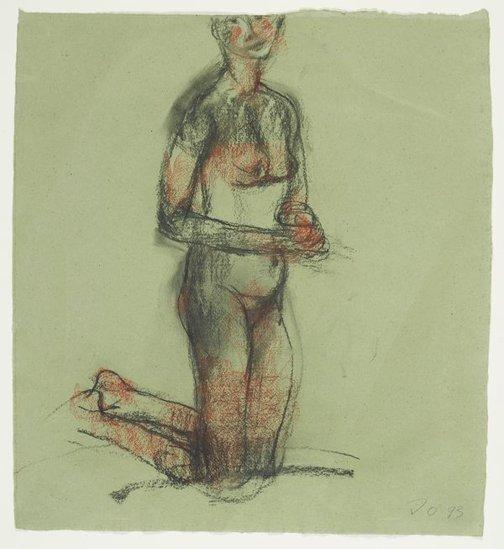 An image of Kneeling female nude by John Olsen