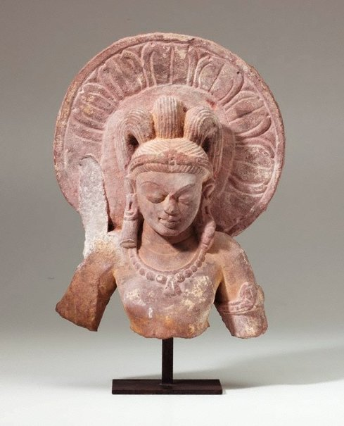 An image of Head and torso of Kumara by