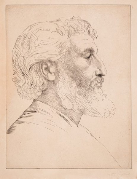 An image of Lord Frederic Leighton PRA by Alphonse Legros
