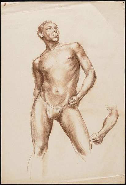 An image of Male nude in a loin cloth, London by Nora Heysen