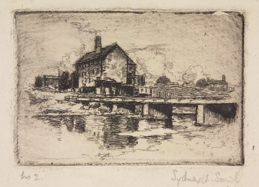 An image of Freezing works, Parramatta River by Sydney Ure Smith