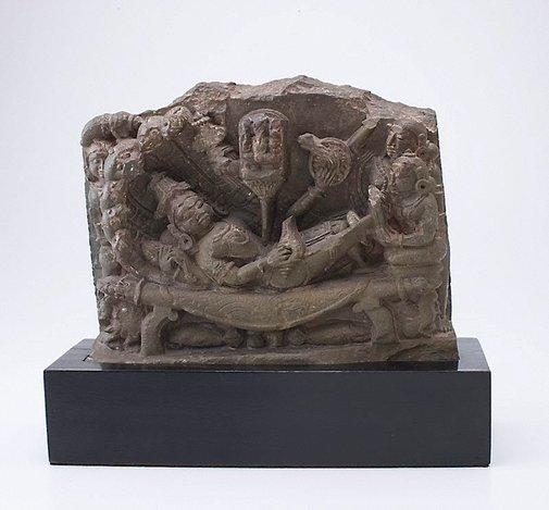 An image of Vishnu reclining on the serpent Ananta (Vishnu Anantasesha) by
