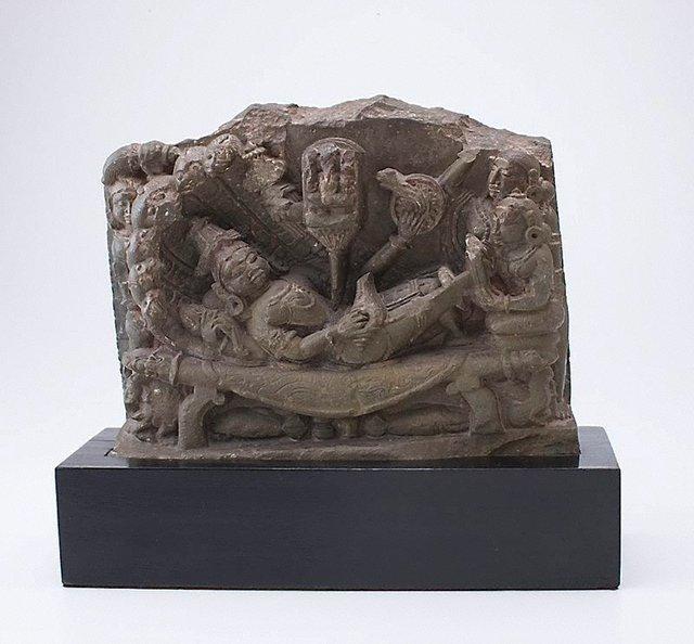 An image of Vishnu reclining on the serpent Ananta (Vishnu Anantasesha)