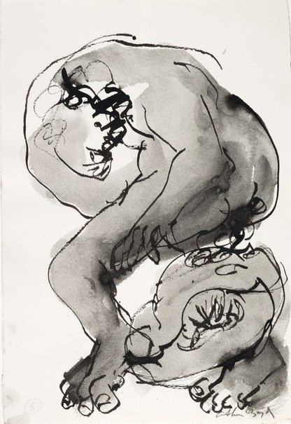 An image of (Illustration for 'Jonah' p.17) by Arthur Boyd