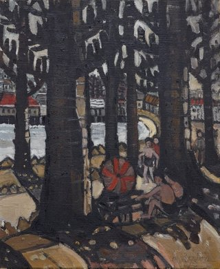 AGNSW collection Margaret Preston Manly Harbour Beach (1943) 240.2004