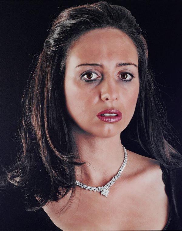 An image of Self portrait as Christina Onassis