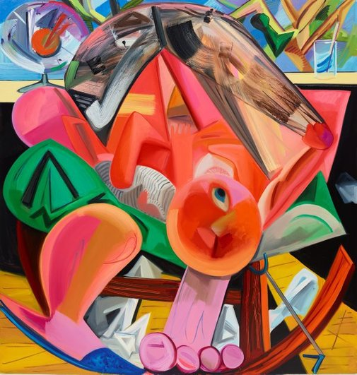 An image of Breastfeeding by Dana Schutz