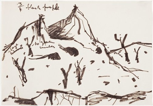 An image of Mountain landscape 1 by Albert Tucker